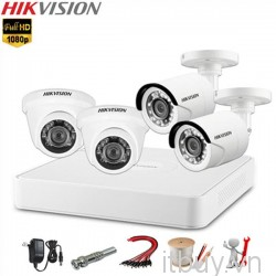 Bộ Kit 4 mắt camera analog Hikvision 1080p
