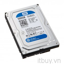 WD Blue HDD 500G 7200 S-ATA3 / 6Gb/s    32Mb Cache